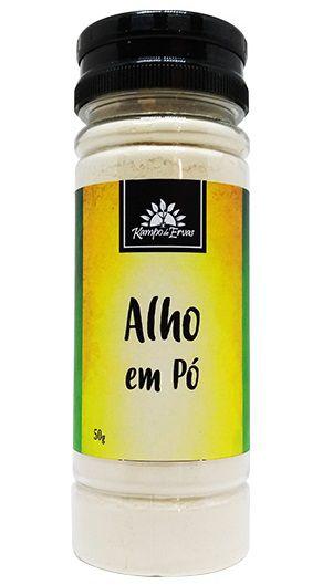 Kampo de Ervas Alho em Pó Condimento Puro 50g