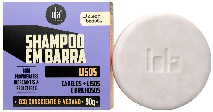 Lola Shampoo em Barra Lisos com Linhaça e Rícino 90g