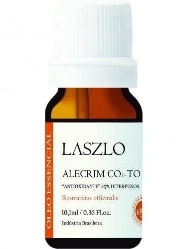 Laszlo Óleo Essencial de Alecrim 25% Diterpenos (CO2-TO) Orgânico 10,1ml