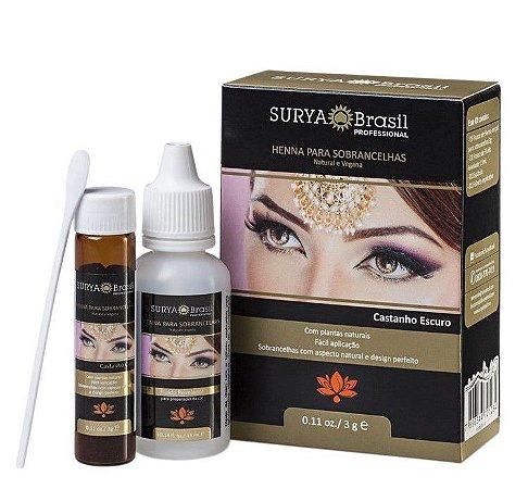 Surya Brasil Henna para Sobrancelhas Castanho Escuro 3g