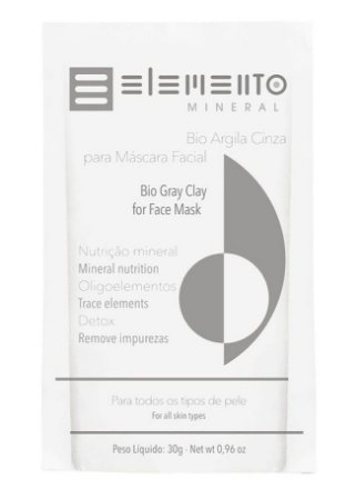 Elemento Mineral Bio Argila Cinza 30g