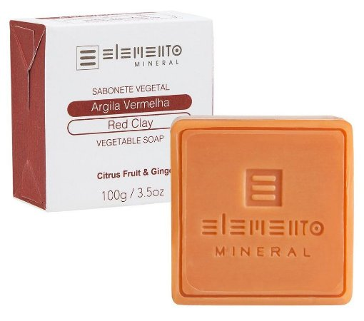 Elemento Mineral Sabonete Vegetal Argila Vermelha 100g