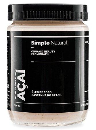 Simple Organic Hidratante de Açaí 150ml