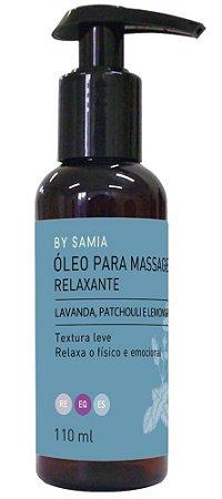 By Samia Relaxante Óleo para Massagem com Lavanda 110ml