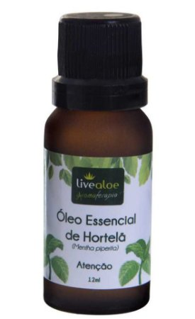 Livealoe Óleo Essencial de Hortelã Pimenta 12ml