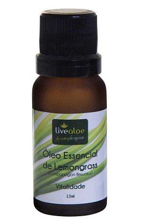 Livealoe Óleo Essencial de Lemongrass (Capim Limão) 12ml