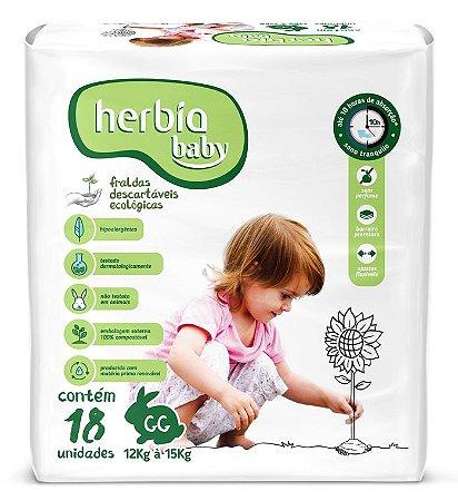 Herbia Baby Fralda Ecológica Descartável GG com 18 un