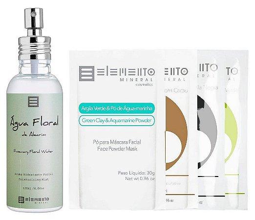 Elemento Mineral Kit Alecrim com Água Floral e Bio Argilas