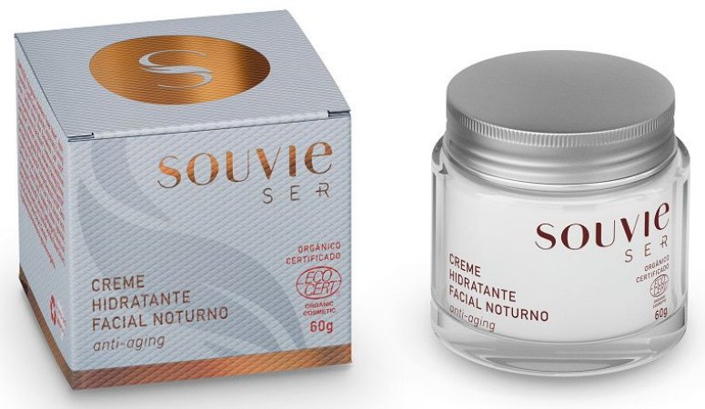 Souvie Ser+ Creme Hidratante Facial Noturno Anti-Aging 60g