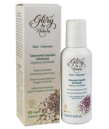 Glory By Nature Sabonete Líquido Esfoliante Facial Açaí e Cupuaçu 120ml