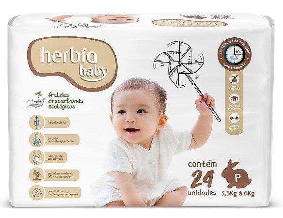Herbia Baby Fralda Ecológica Descartável P com 24 un