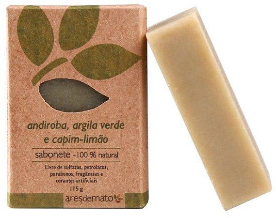 Ares de Mato Sabonete Natural Andiroba, Argila Verde e Capim Limão 115g