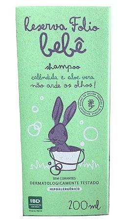 Reserva Folio Bebê Shampoo Calêndula e Aloe Vera 200ml