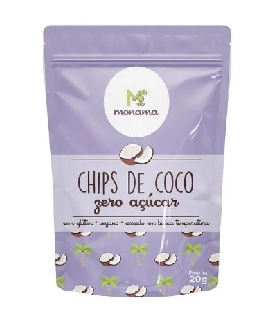 Monama Chips de Coco Zero Açúcar 20g