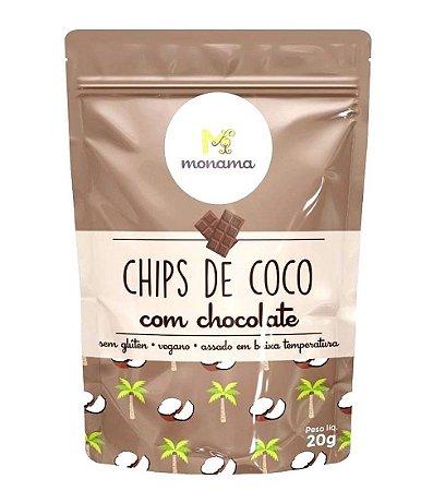 Monama Chips de Coco com Chocolate 20g