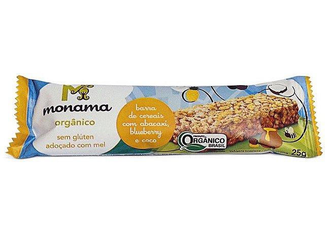 Monama Barra de Cereal Orgânica Abacaxi, Blueberry e Coco