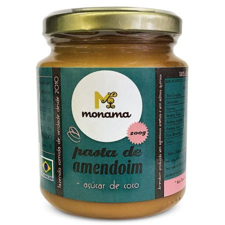 Monama Pasta de Amendoim com Açúcar de Coco 200g