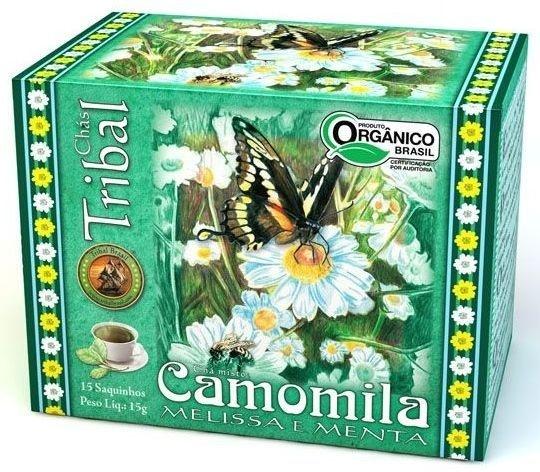 Tribal Brasil Chá de Camomila, Melissa e Menta Orgânico Caixa 15 Sachês