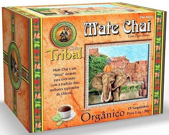 Tribal Brasil Chá de Erva Mate Chai com Especiarias Orgânico Caixa 15 Sachês
