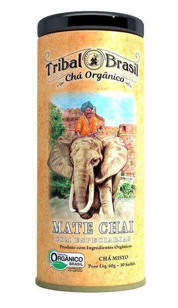 Tribal Brasil Chá de Erva Mate Chai com Especiarias Orgânico Lata 30 Sachês