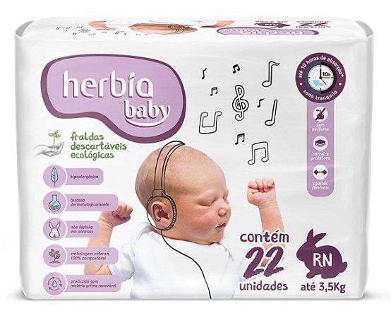 Herbia Baby Fralda Ecológica Descartável RN com 22 un