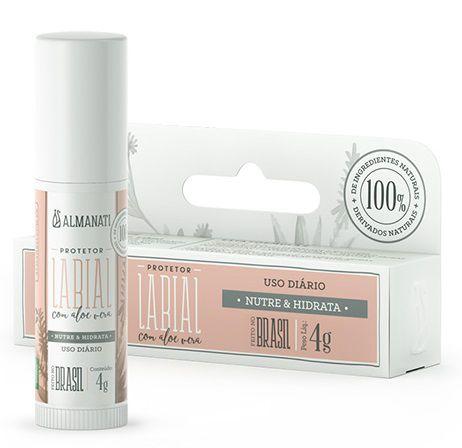 Almanati Protetor Labial com Aloe Vera 4g
