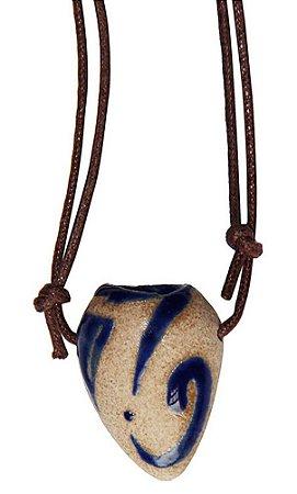 Colar Aromatizador Pessoal de Cerâmica - Folha