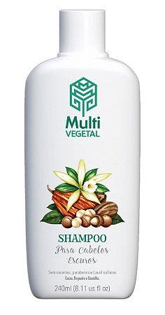 Multi Vegetal Shampoo de Nogueira, Cacau e Baunilha Cabelos Escuros 240ml