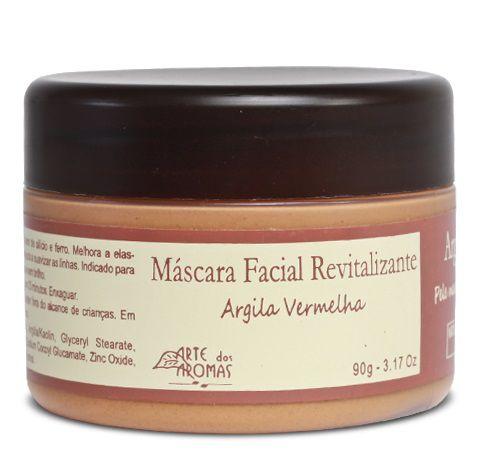 Arte dos Aromas Máscara Facial Revitalizante Argila Vermelha 90g
