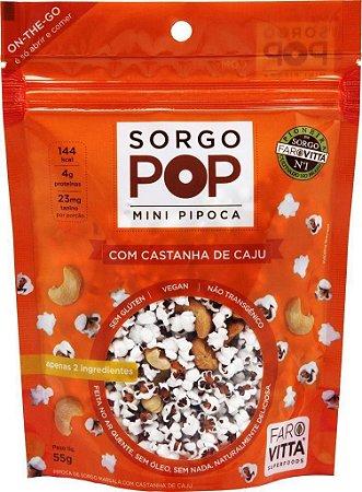 Farovitta Sorgo Pop com Castanha de Caju - Mini Pipoca 55g