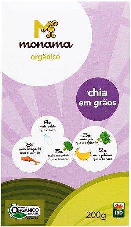 Monama Chia em Grãos Orgânica 200g