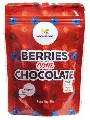 Monama Snack Berries com Chocolate 80% Cacau Zero Açúcar 40g