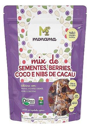 Monama Mix de Sementes, Berries, Coco e Nibs de Cacau Orgânico 190g