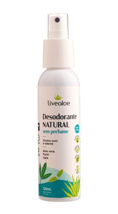 Livealoe Desodorante Natural Sem Perfume Spray 120ml