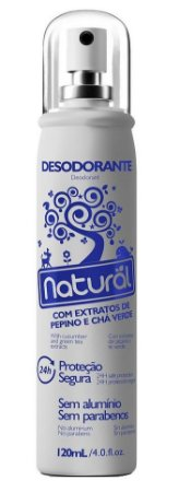 Suavetex Contente Desodorante Natural com Pepino e Chá Verde 120ml