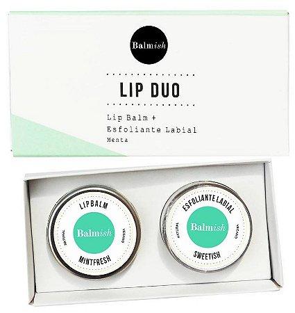Balmish Lip Duo - Kit com Esfoliante Labial + Lip Balm Hidratante