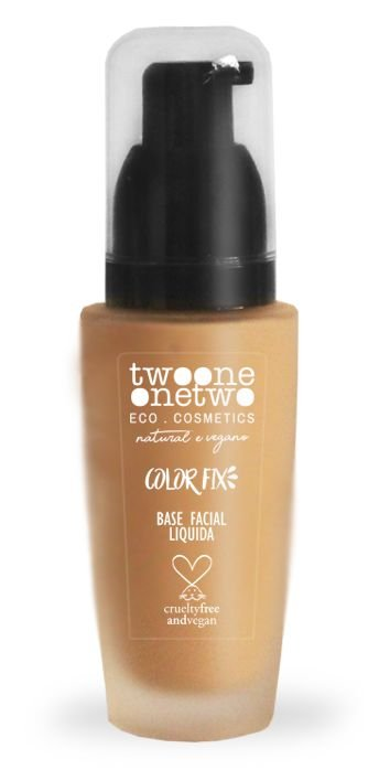 Twoone Onetwo Base Facial Líquida Color Fix - Cor 01 (Warm Ivory) 40g