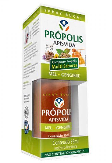ApisVida Spray de Própolis com Mel e Gengibre 35ml