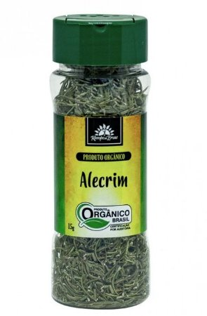Kampo de Ervas Alecrim Condimento Puro Orgânico 15g