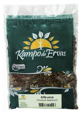 Kampo de Ervas Chá de Alfavaca (Manjericão) Orgânico Fracionado 30g