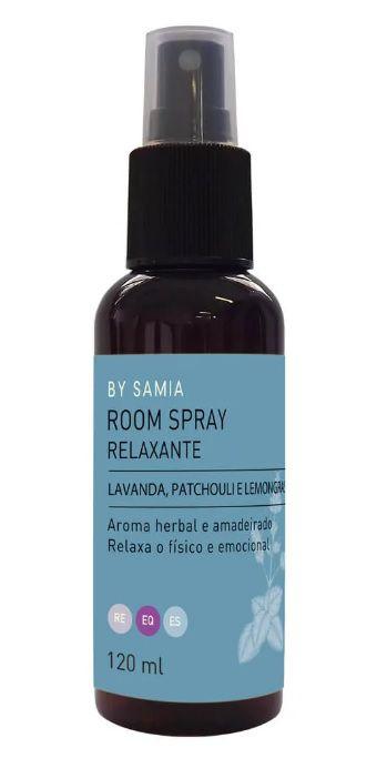 By Samia Relaxante Room Spray com Lavanda, Patchouli e Lemongrass 120ml