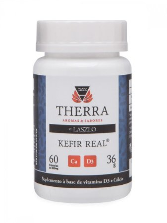 Therra Kefir Real com Vitamina D3 e Cálcio 60 Cápsulas