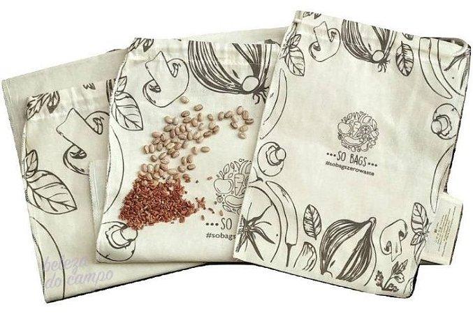 So Bags Zero Waste Kit Grãos - Saco para Compras a Granel 3 un