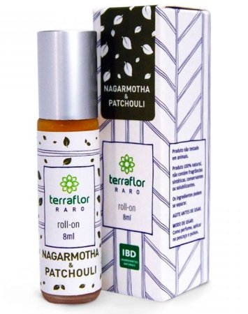 Terra Flor Roll-on Nagarmotha e Patchouli - Perfume Natural 8ml