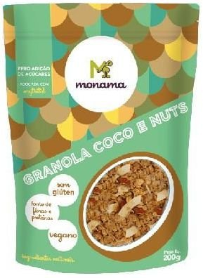 Monama Granola Coco e Nuts Zero Açúcar 200g