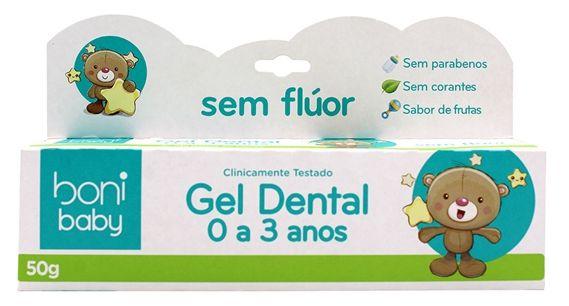 Boni Natural Baby Gel Dental Sabor Frutas 50g