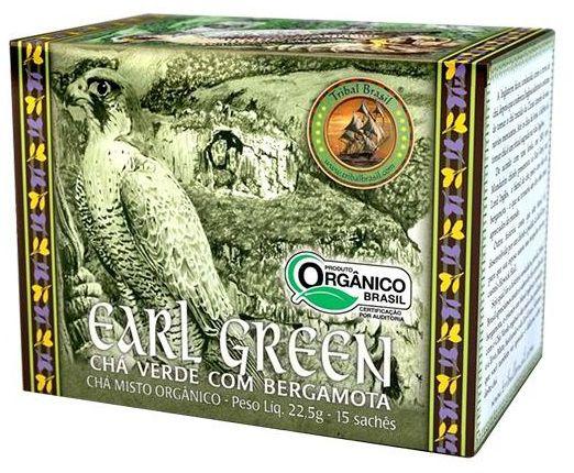Tribal Brasil Earl Green Chá Verde com Bergamota Orgânico Caixa 15 Sachês