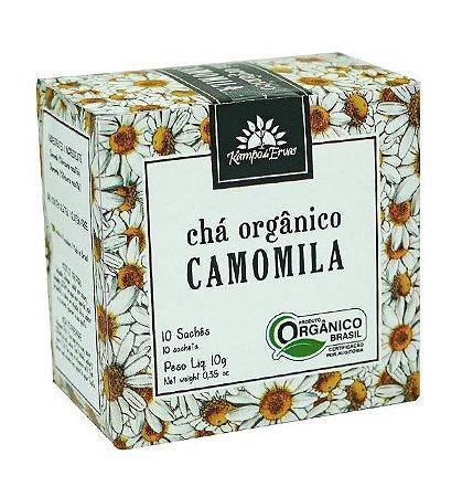 Kampo de Ervas Chá de Camomila Orgânico Caixa 10 Sachês