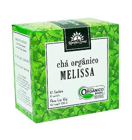Kampo de Ervas Chá de Melissa Orgânico Caixa 10 Sachês
