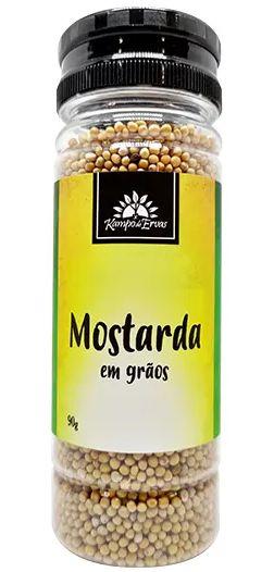 Kampo de Ervas Mostarda em Grãos Condimento Puro 90g